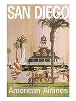 サンディエゴ、カリフォルニア州のための旅行のポスター61x81cm [並行輸入品]