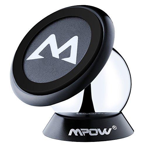 Mpow 車載ホルダー スマホスタンド マグネット式 360度回転 iPhone 6/6S/Sonyなど多機種対応 【18ヶ月国内保障】