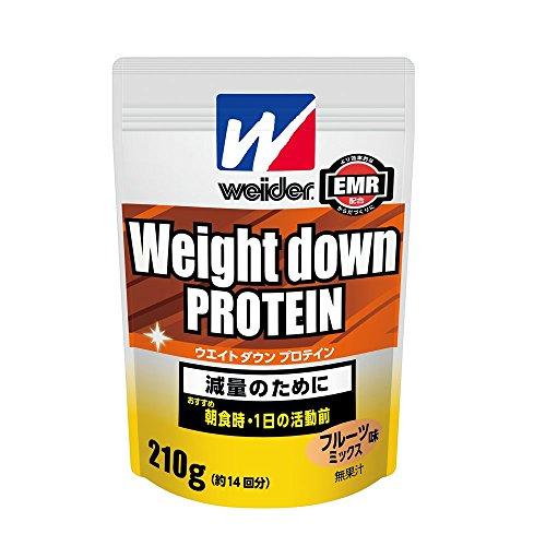 ウイダー ウエイトダウンプロテイン フルーツミックス味 約14回分 210g