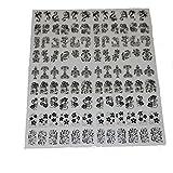 ネイルステッカー 1シート108枚 / ネイルシール/ネイルホイル/ネイルアートテープ/デコレーション/ジェルネイル (black)