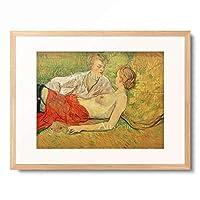 アンリ・ド・トゥールーズ=ロートレック Henri Marie Raymond de Toulouse-Lautrec-Monfa 「The two girlfriends」 額装アート作品