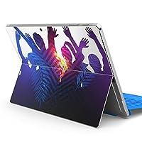 igsticker Surface pro7 (2019) pro6 pro2017 pro4 専用 スキンシール サーフェス ノートブック ノートパソコン カバー ケース フィルム ステッカー アクセサリー 保護 012641 シルエット 葉 人物