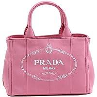(プラダ)PRADA トートバッグ ショルダーバッグ CANAPA カナパ スモール キャンバス ピンク ホワイト 1BG439 CANAPA GERANIO+BIANCO