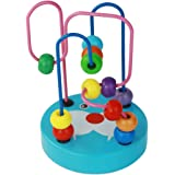 umu Bead Maze Toy for Toddlers Wooden Colorful Roller Coaster Game - Educational Toy Abacus for Kids Math, Best Gift for 3, 4