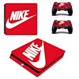 NIKE PS4 slim スリム  専用スキンシールΓスポーツ ナイキ Nike 」 本体用 + コントローラー用 × 2枚 ノーブランド 0102 [並行輸入品]