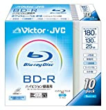 JVC KENWOOD JVCその他 ビクター 録画用BD-R 1回録画用 2倍速 130分 25GB ホワイトプリンタブル 10枚パック BV-R130B10の画像