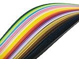 720枚 ペーパークイリング ミックスカラー 3mm 5mm 7mm 10mm幅 4サイズ 手作り DIY ホビー 造花 手芸 36色ペーパー