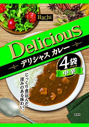ハチ食品 デリシャスカレー 中辛 170gX4