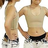 ナベシャツ ハーフタンクトップ型 3段フック調整機能 コスチューム 肌色 Mサイズ