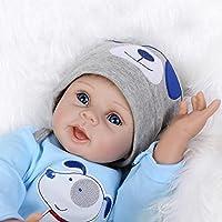 値スポーツNPKDOLL LifelikeリアルなかわいいソフトSiliconeビニールRebornベビーガール人形Toy with Magneticダミー22インチ( 55 cm )