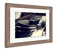 "Ashleyフレームプリントピアノキーボードとヘッドフォン、壁アートホーム装飾、ag6061633 26"" x 30"", Rustic Barn Wood Frame 6061633-AFPL1-RC16"