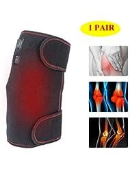3ファイル温度の膝ブレース1ペアを加熱-膝の怪我のためのUSB充電式治療加熱パッド脚ウォームラップ