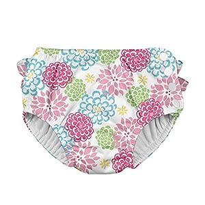 アイプレイ iplay オムツ機能付 水遊び用パンツ スイムダイパー スイミングパンツ 女の子 M:12ヶ月/8-10kg White Zinnia