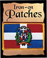 "The Flag of DOMINICAN REPUBLIC PATCH, Superior Quality Iron-On / Saw-On Embroidered Patch - Each one is individually carded and sealed in a professional retail package - 3.5"" x 2.25"" Inches - Made in the USA"