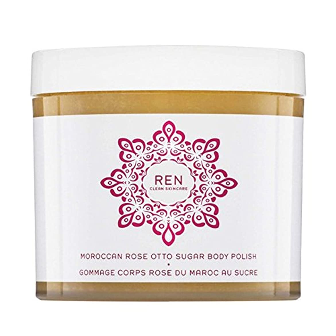 REN Moroccan Rose Otto Sugar Body Polish 330ml - モロッコは、糖体ポリッシュ330ミリリットルをオットーローズ [並行輸入品]