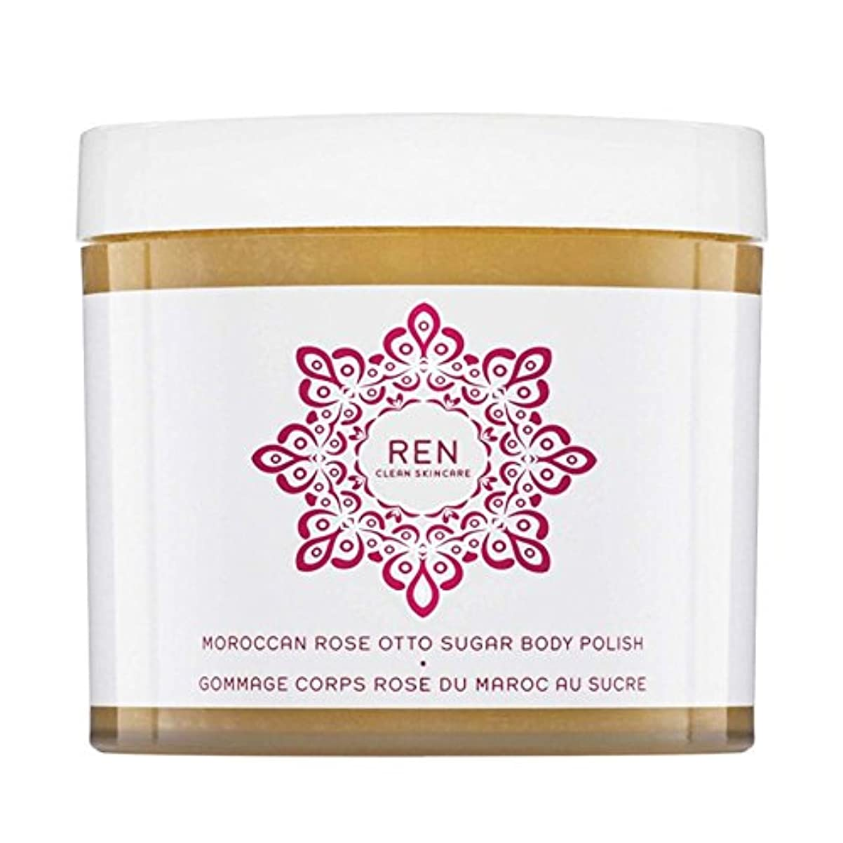 実装する王室崖REN Moroccan Rose Otto Sugar Body Polish 330ml (Pack of 6) - モロッコは、糖体ポリッシュ330ミリリットルをオットーローズ x6 [並行輸入品]