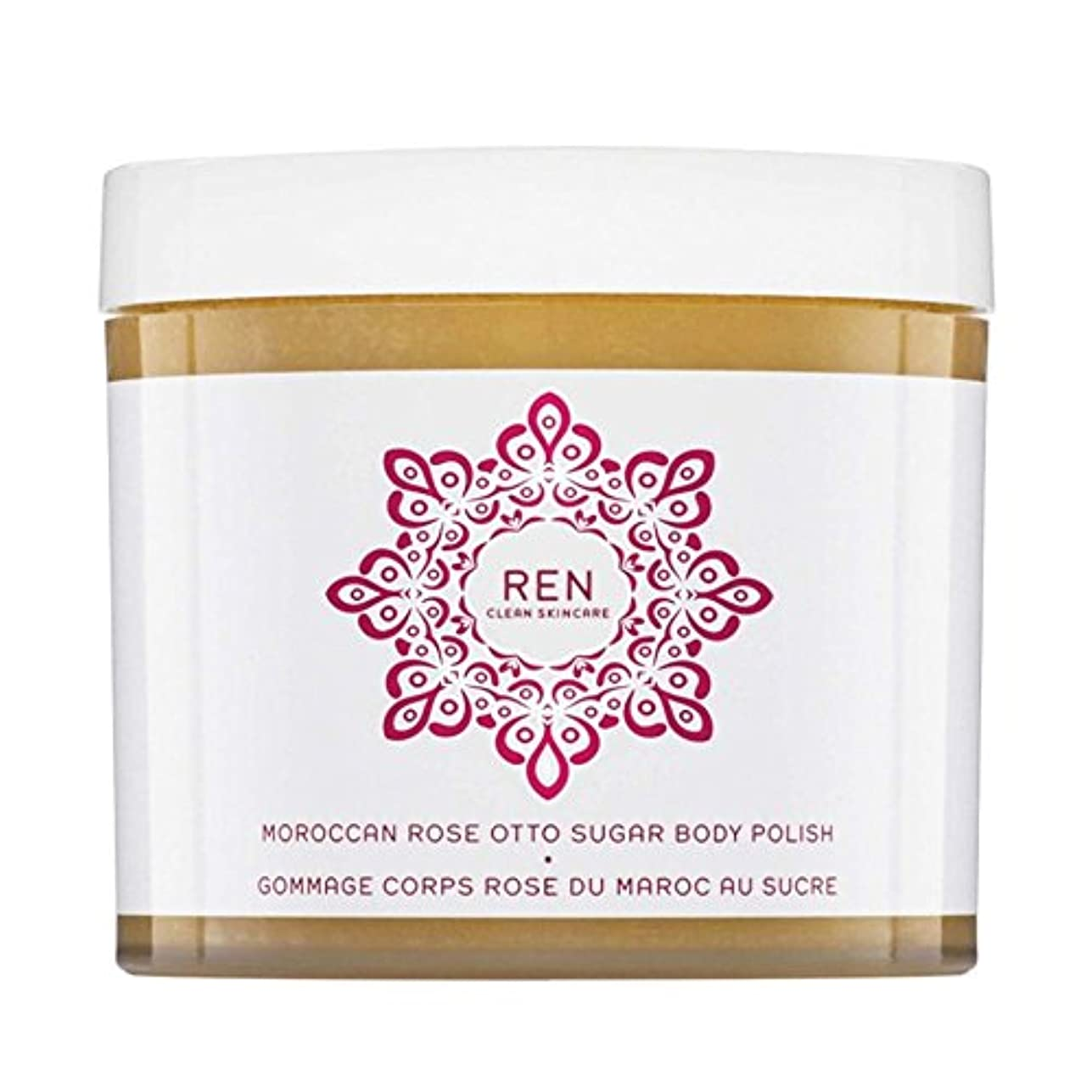 ワイヤー避ける意味REN Moroccan Rose Otto Sugar Body Polish 330ml (Pack of 6) - モロッコは、糖体ポリッシュ330ミリリットルをオットーローズ x6 [並行輸入品]