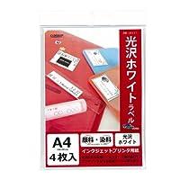 クローズアップ IJ用ラベル 光沢ホワイト A4(4) IJ8051