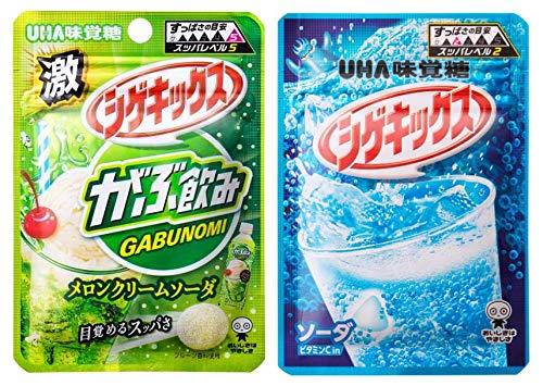 UHA味覚糖 シゲキックス アソート 2種各5個計10個セット(メロンクリームソーダ×5・ソーダ×5)