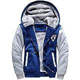 冬 も カッコよく 厚手 メンズ ジャケット フード 付 裏地 暖か ジャンパー 防寒対策 も バッチリ (4L(日本3Lサイズ), ブルー)