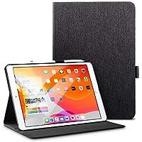 ESR iPad 10.2 ケース 第7世代 2019モデル専用 オックスフォード生地 手帳型[オートスリープ/ウェイク][ペンシルホルダー付き][ブックカバーデザイン][角度調節可能な鑑賞スタンド]アーバンプレミアム 二つ折りスタンド iPad 10.2インチ2019専用カバー(ブラック)