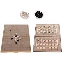 SunniMix プラスチック 磁気 日本将棋 チェス 折りたたみ 磁気ボード 囲碁