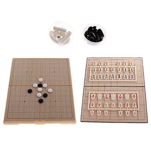 Baoblaze 磁気 日本チェス 将棋 折りたたみ式 磁気ボード 囲碁 ボードゲーム 子供 知育玩具