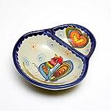 ポルトガル製 仕切り皿 コンビ トレイ 鉢 ハート 仕切り付き 変形ボウル pif-853ch pif-853ch