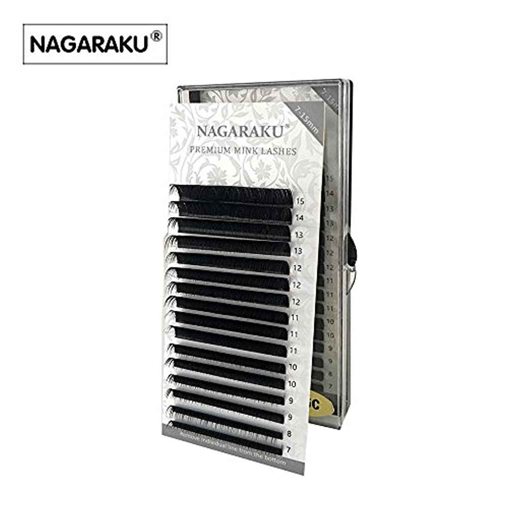 前件水族館お酒NAGARAKU 太さ0.15mm Jカール 7~15mmミックス まつ毛エクステンション