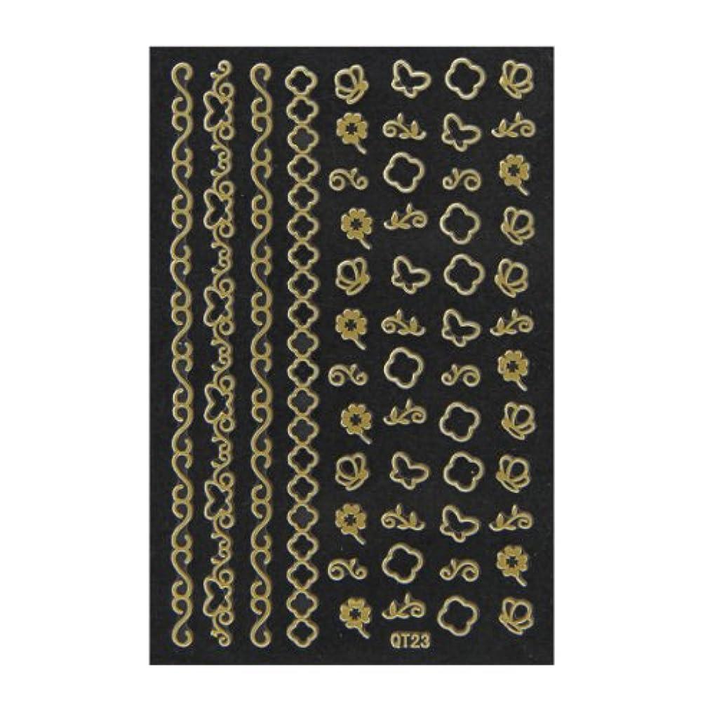 ギャンブルタワー蓮ネイルシール 3D ネイルシート ファッションネイル メタリックシール23 (ネイル用品)