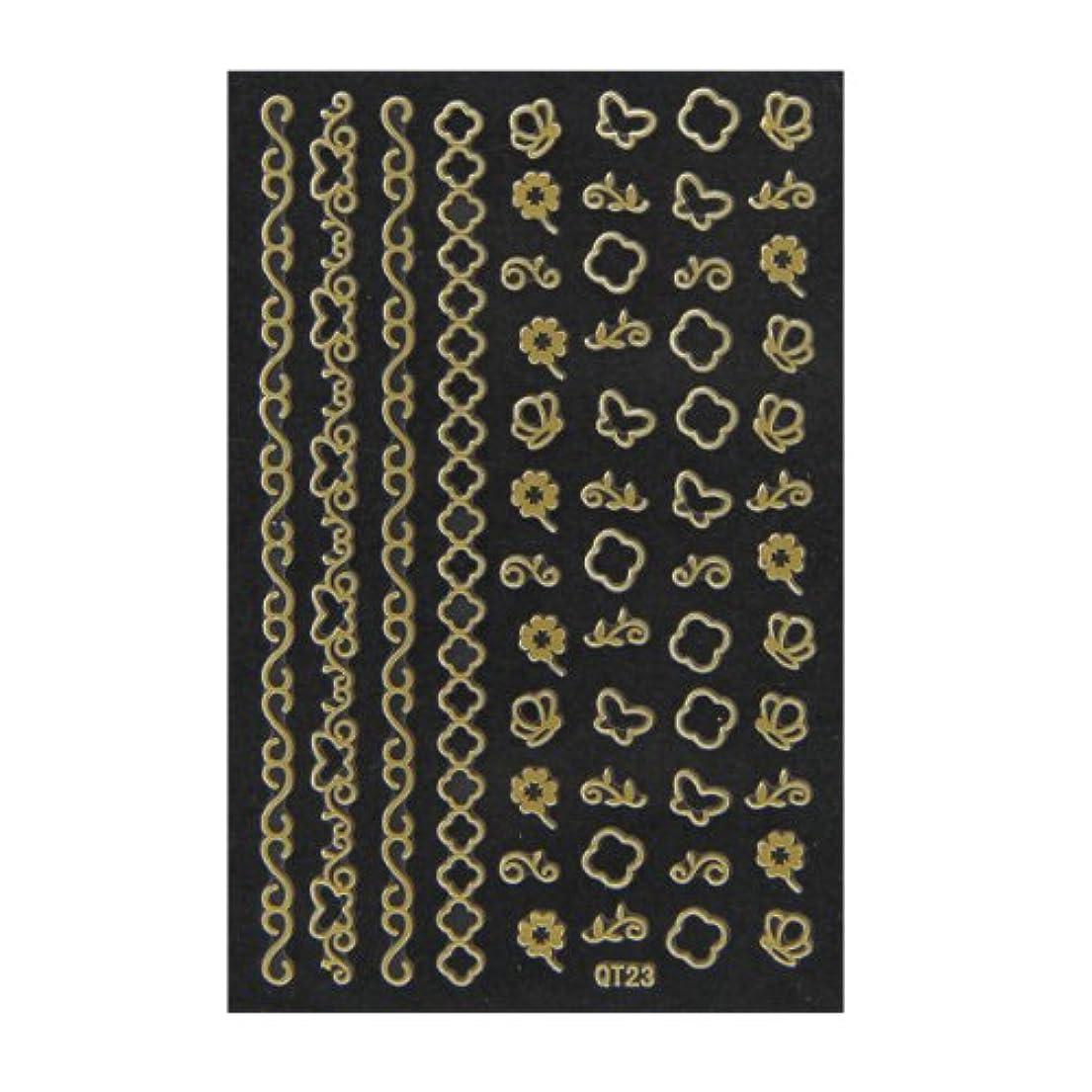 敗北砦アデレードネイルシール 3D ネイルシート ファッションネイル メタリックシール23 (ネイル用品)