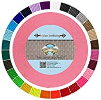 (50 Yards, Pink) - Country Brook Design Heavy Nylon Webbing (2.5cm)