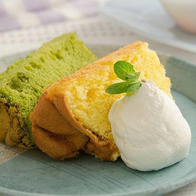 もっちり&ふわっふわな食感の安心スイーツ 米粉100%シフォンケーキ6個セット(プレーン・レモン・抹茶)