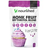Powdered Monk Fruit + Erythritol Sweetener Confectioners (1.14 kg / 2.5 lb) - Perfect for Diabetics and Low Carb Dieters - 1:1 Sugar Replacement - No Calorie Sweetener, Non-GMO, Natural Sugar Substitute