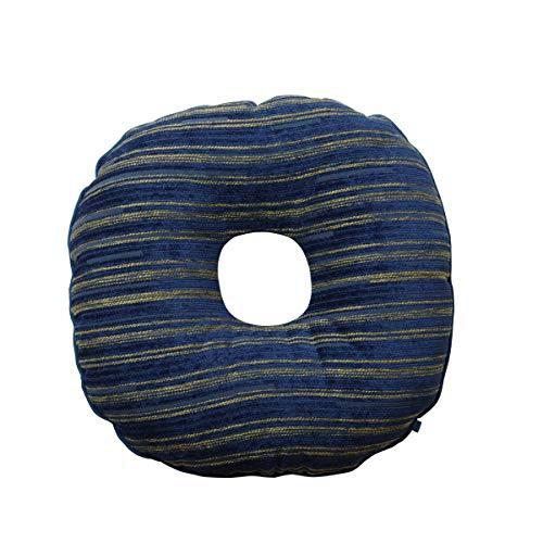 シェニール織 円座クッション「エルピス」約40cm丸 ネイビー(#9308469) クッション 産後 円形座布団 座布団
