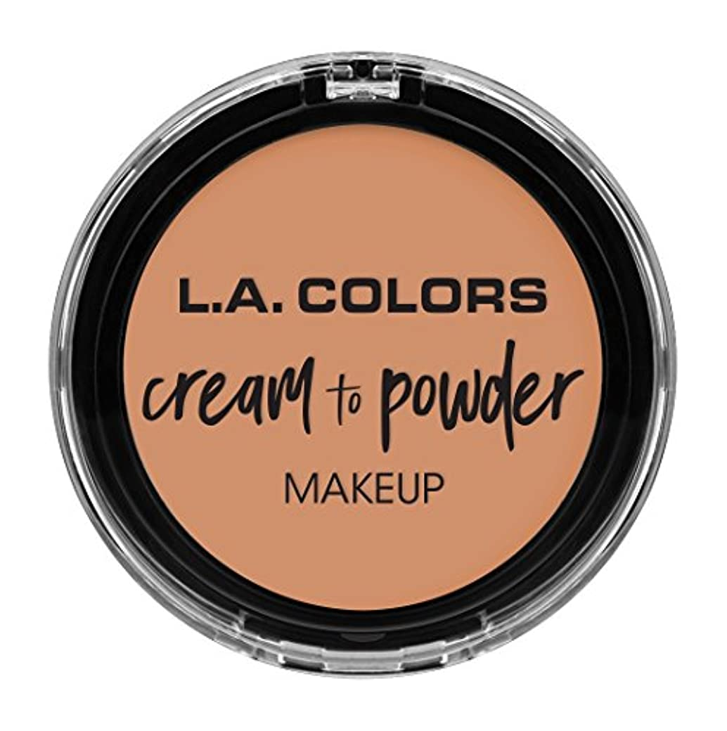 スリッパジョイント限界L.A. COLORS Cream To Powder Foundation - Shell (並行輸入品)