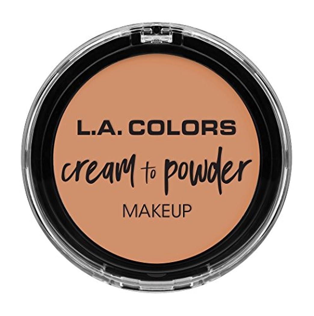 錫中に名誉あるL.A. COLORS Cream To Powder Foundation - Shell (並行輸入品)