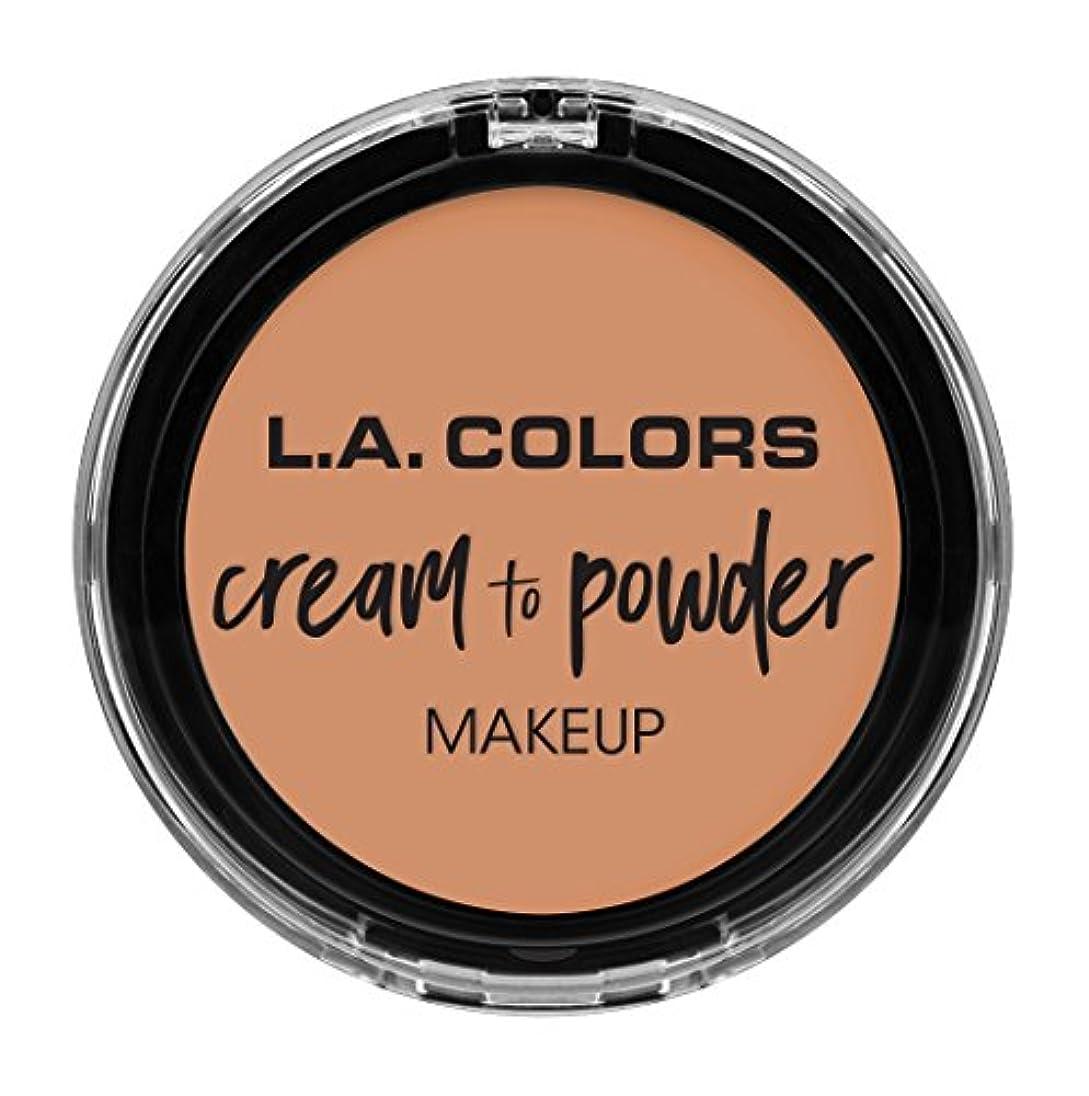 精神的に協力問題L.A. COLORS Cream To Powder Foundation - Shell (並行輸入品)