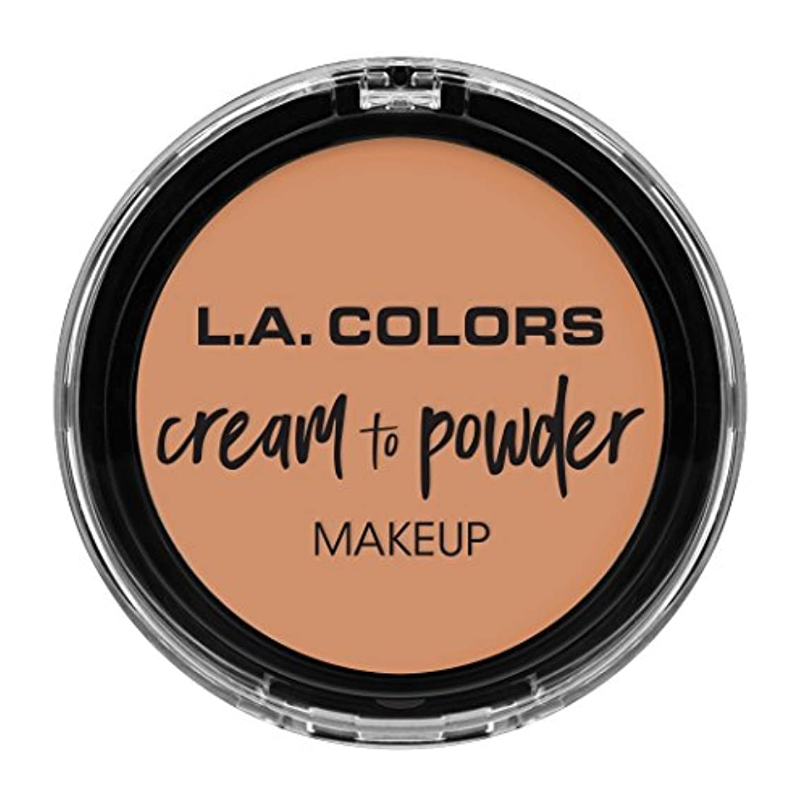 作成者に道徳L.A. COLORS Cream To Powder Foundation - Shell (並行輸入品)