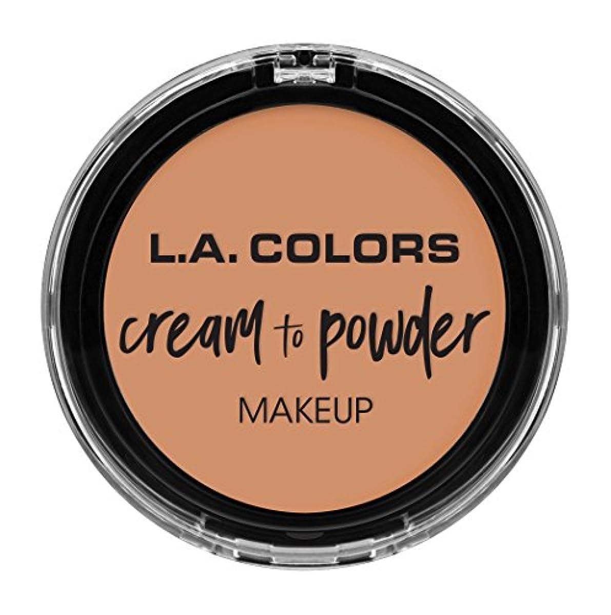 嘆願カートリッジ電話するL.A. COLORS Cream To Powder Foundation - Shell (並行輸入品)