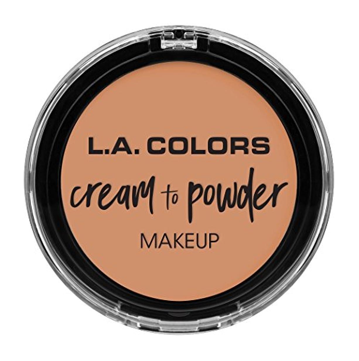 神聖買い物に行くお互いL.A. COLORS Cream To Powder Foundation - Shell (並行輸入品)