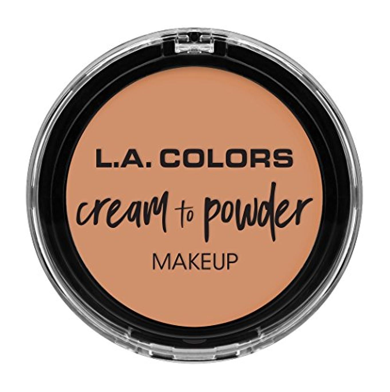 カーフ衝撃再現するL.A. COLORS Cream To Powder Foundation - Shell (並行輸入品)