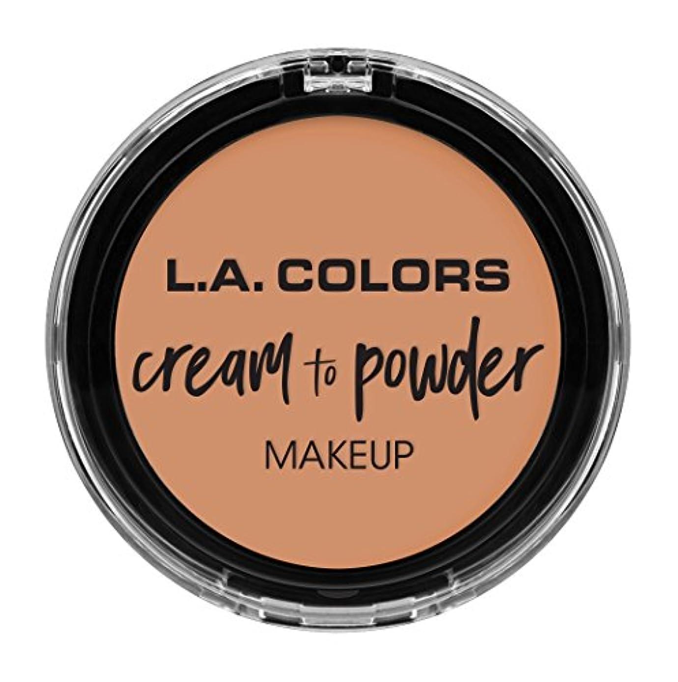 無知鎖衝撃L.A. COLORS Cream To Powder Foundation - Shell (並行輸入品)