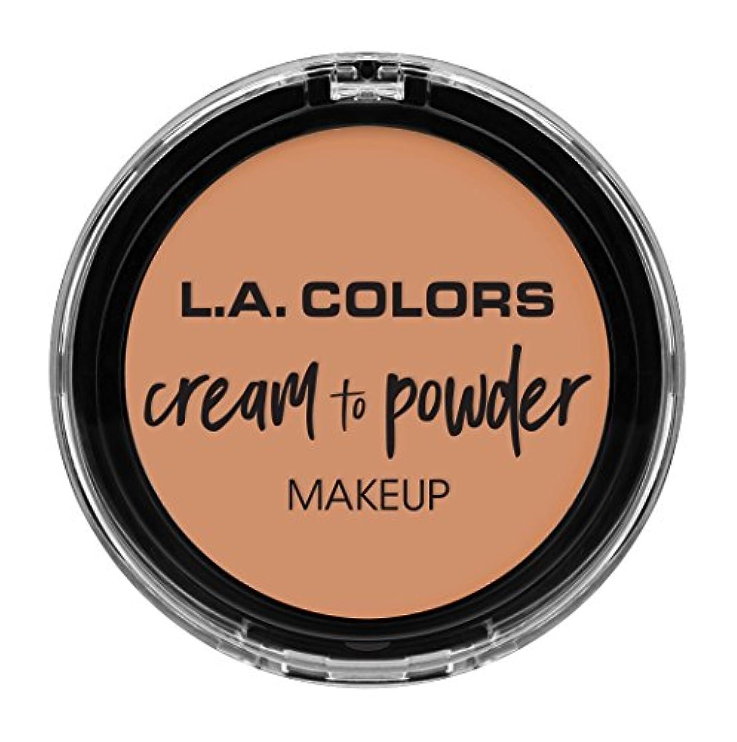 サーフィンケーキグリルL.A. COLORS Cream To Powder Foundation - Shell (並行輸入品)