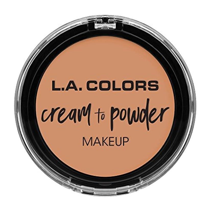 騒々しいジェスチャー消費者L.A. COLORS Cream To Powder Foundation - Shell (並行輸入品)