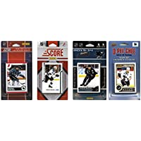NHL San Jose Sharks 4異なるライセンスTradingカードチームセット、ブラウン、1サイズ