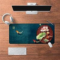 LL-COEUR 油絵 古代のスタイル オリエンタル 大型マウスパッド キーボード ゲーミング オフィス テーブルマット が良い 滑り止めゴム底(34)