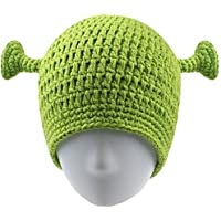 UnionPower Shrek Hats, Keep Warm in Winter, Adult Cosplay Halloween Cosplay, St. Patrick's Day Headband Green