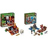 レゴ(LEGO) マインクラフト 闇のポータル 21143 & マインクラフト 海賊船の冒険 21152 ブロック おもちゃ 男の子【セット買い】