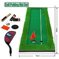 ゴルフ パターマット Golf Putting Mat 屋内&屋外ゴルフパッティング練習用マット - トレーニング補助用パッティングマット、ゴルフパッティングマットセット、ゴルフパッティンググリーン、パッティングスキルの向上に役立つ(50/75 * 300 CM) (Size : 75*300CM)